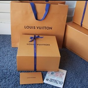 Louis Vuitton Gift Box w/ Ribbon & LV Shopping bag